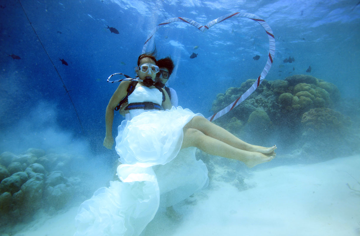 Vedenalaiset häät Malediiveillä