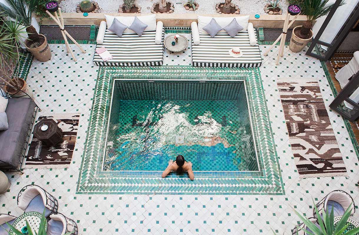 Hotellin uima-allas Marokossa