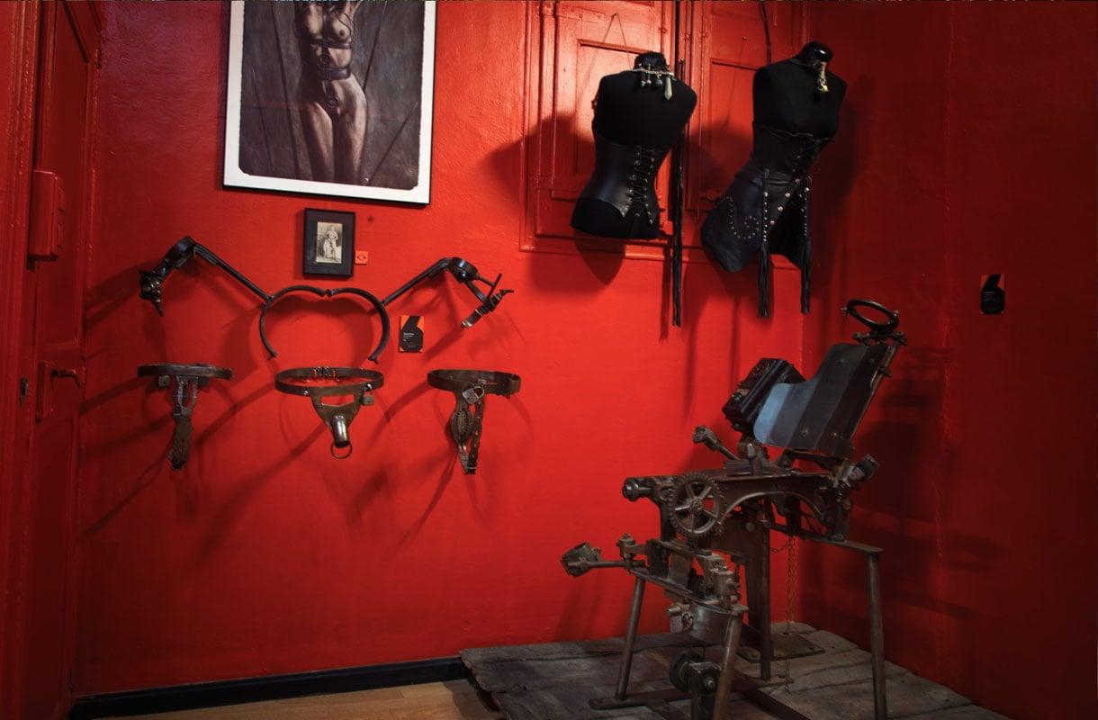Punainen huone Barcelonan seksimuseossa