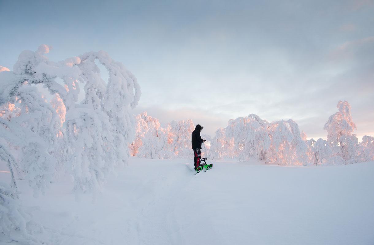 Saariselällä on Suomen pisin pulkkamäki