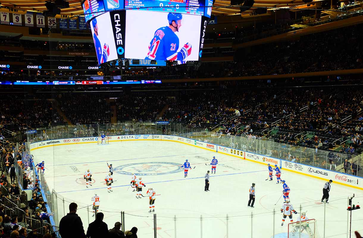 Jääkiekko-ottelu New Yorkissa