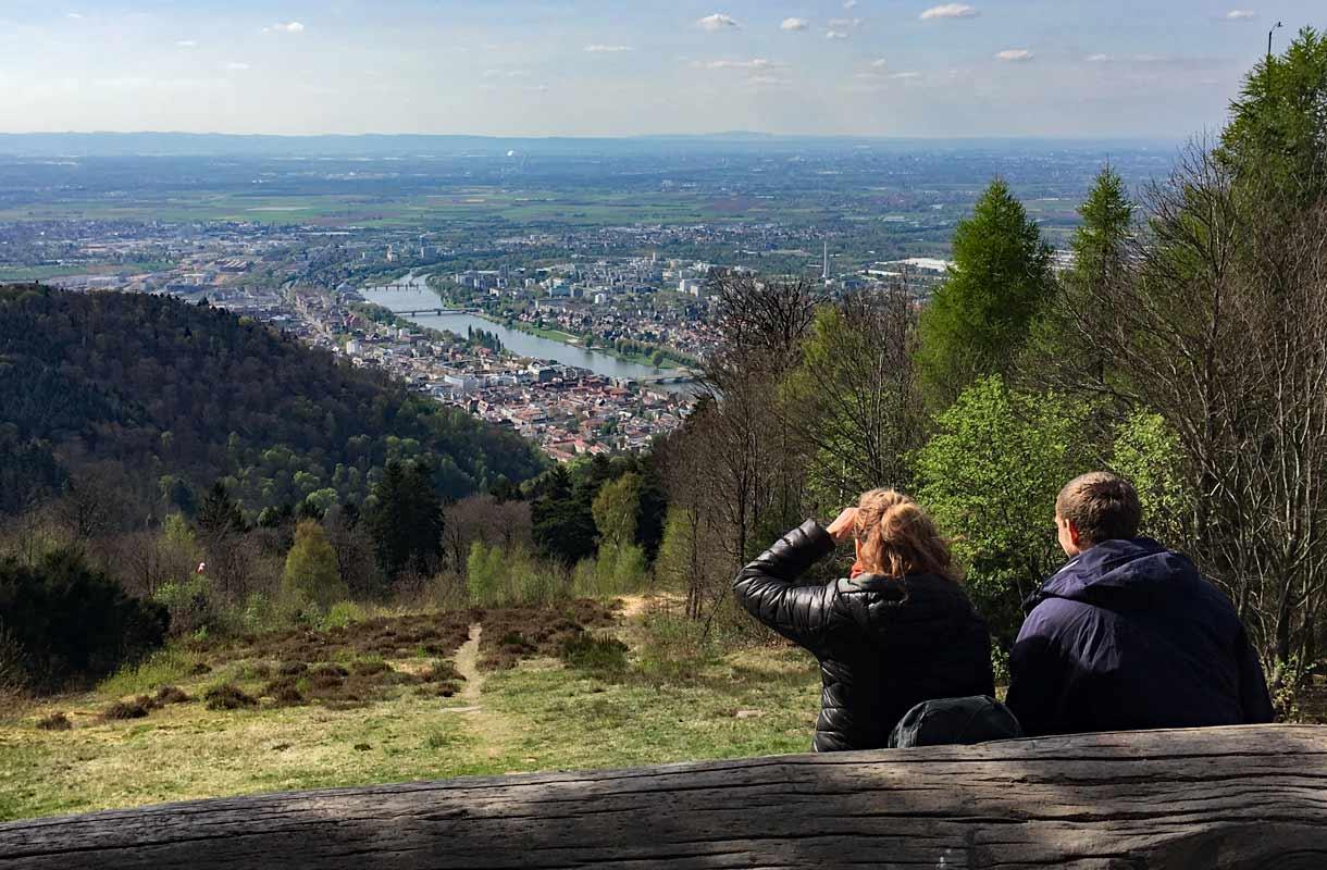 Königstuhlin näköalapaikka, Heidelberg