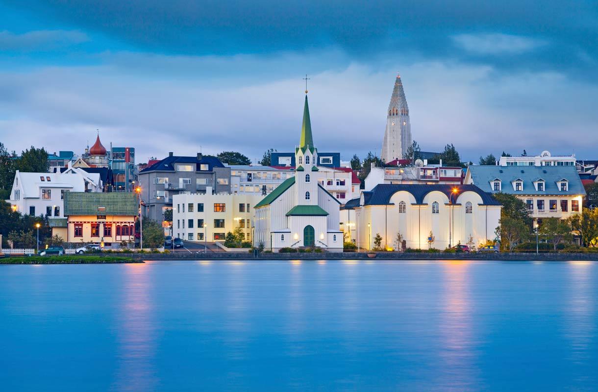 Maisema Reykjavikissa