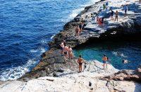 Giolan laguuni on Thassoksen salainen uimapaikka