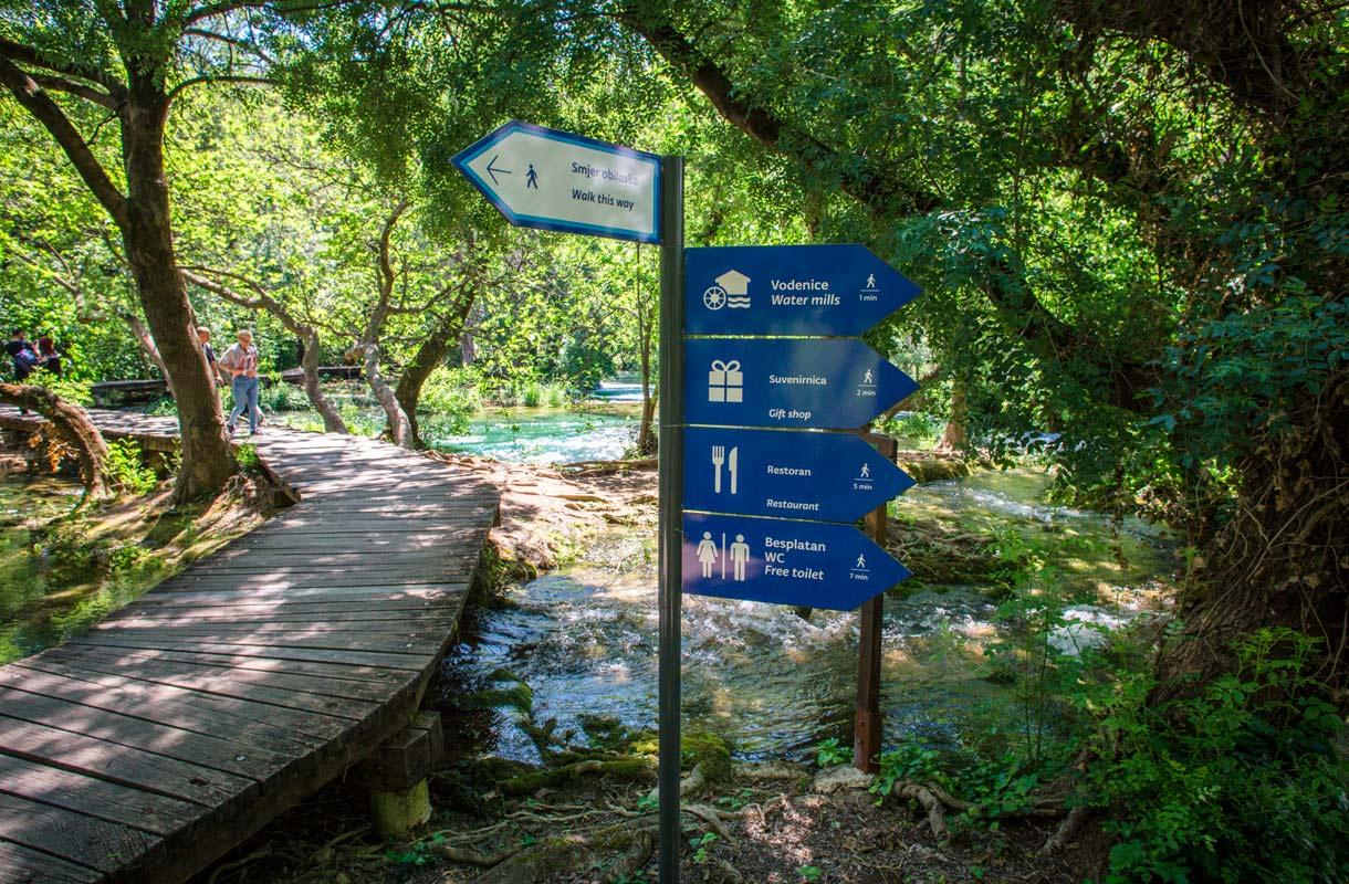Krkan kansallispuisto, Kroatia