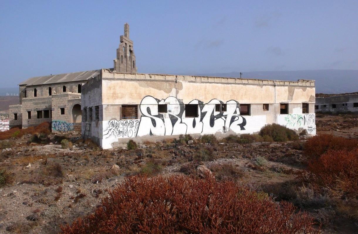Sanatorio de Abonan hylätty leprasiirtola