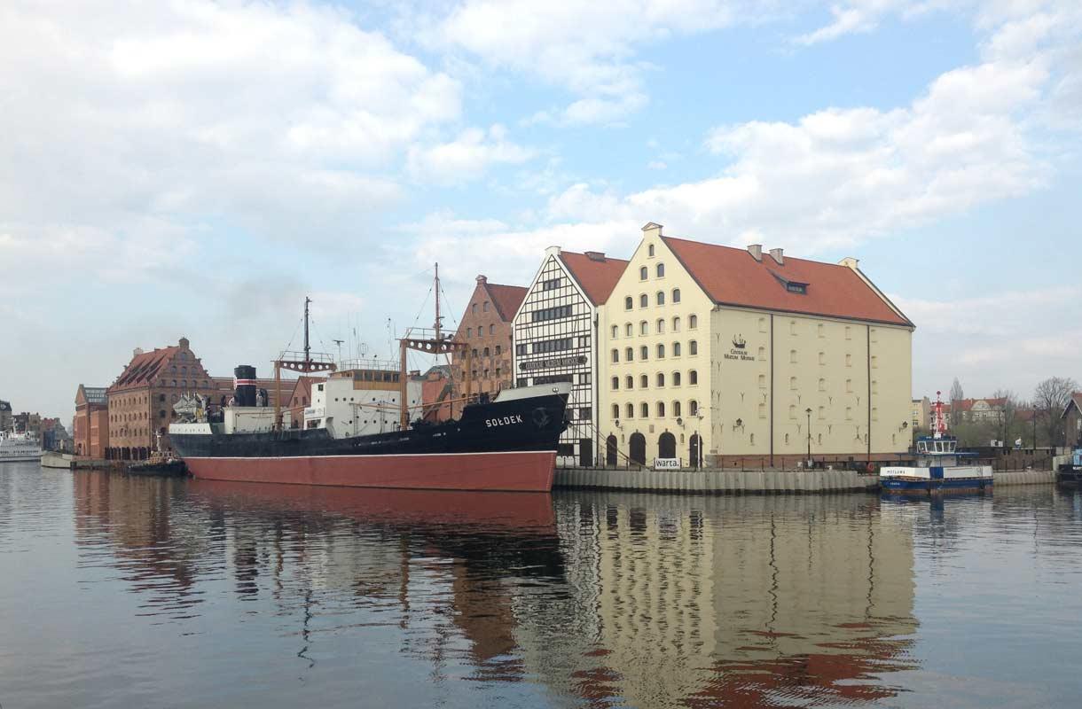Soldek-laiva Gdanskissa