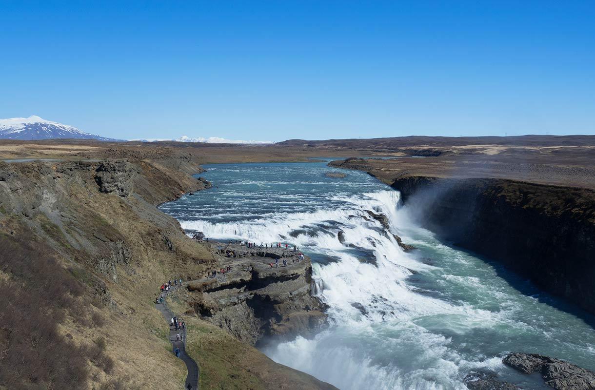 Vesiputous Islannissa