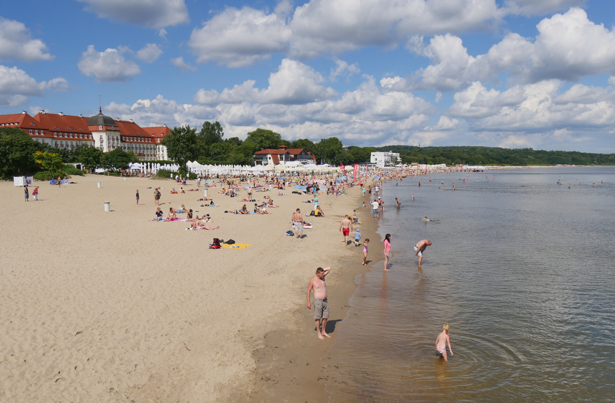 Sopotin hiekkaranta, Puola