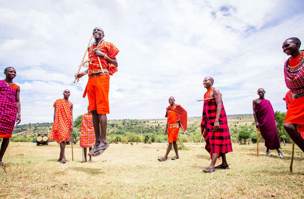 Masai-kylä, Kenia