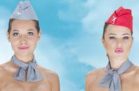 Lentoemännät rohkeassa mainoksessa