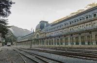 Canfrancin asema Espanjan ja Ranskan rajalla