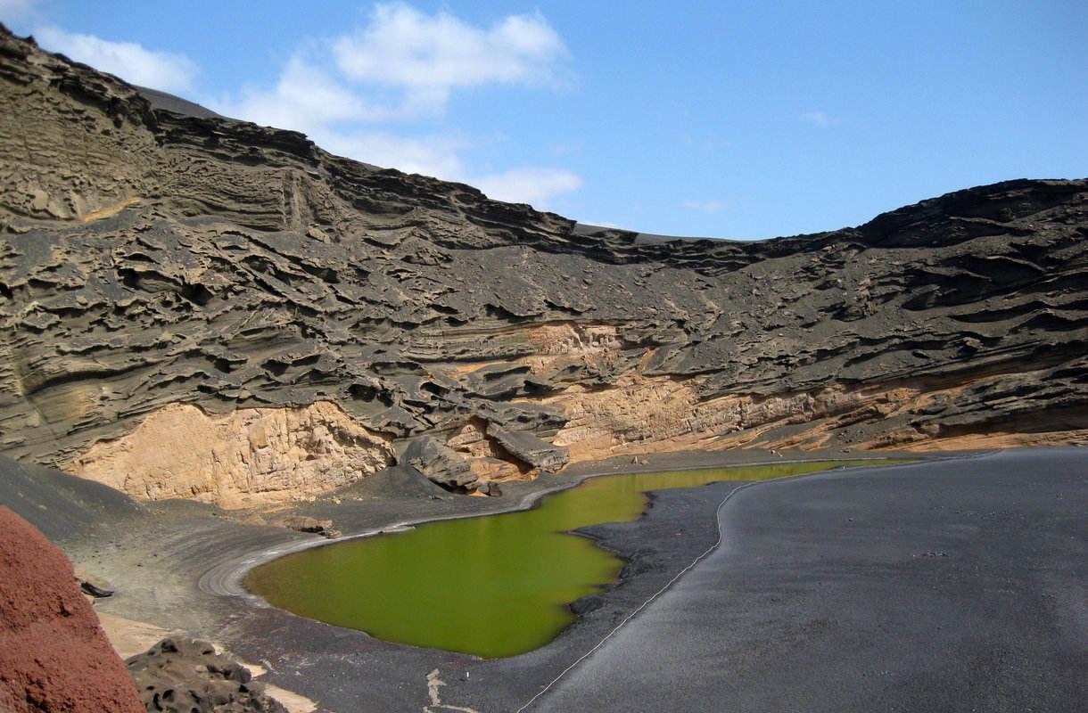 Lanzaroten vihreä laguuni