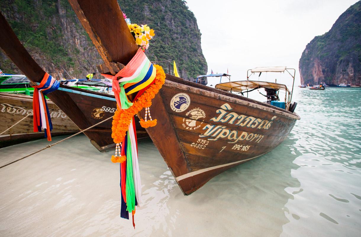 Phi Phin Maya Bay tunnetaan The Beach -elokuvasta