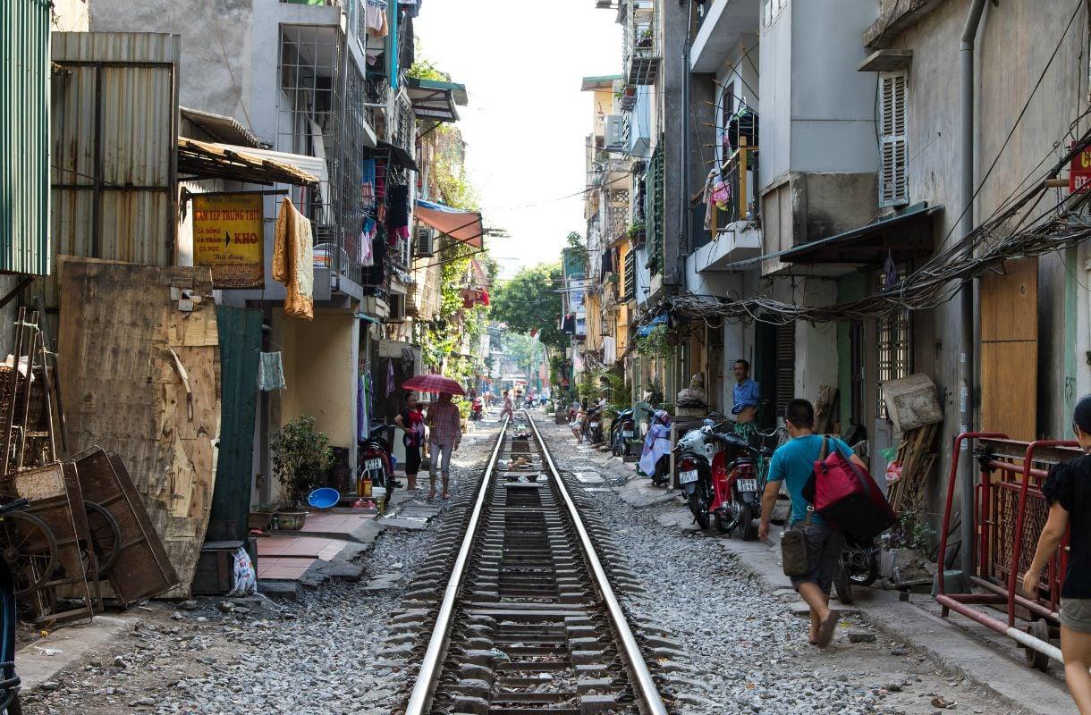 Hanoin Train Street Vietnamissa