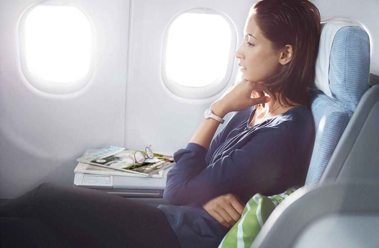 Lentopisteillä voi korottaa matkustusluokkaa