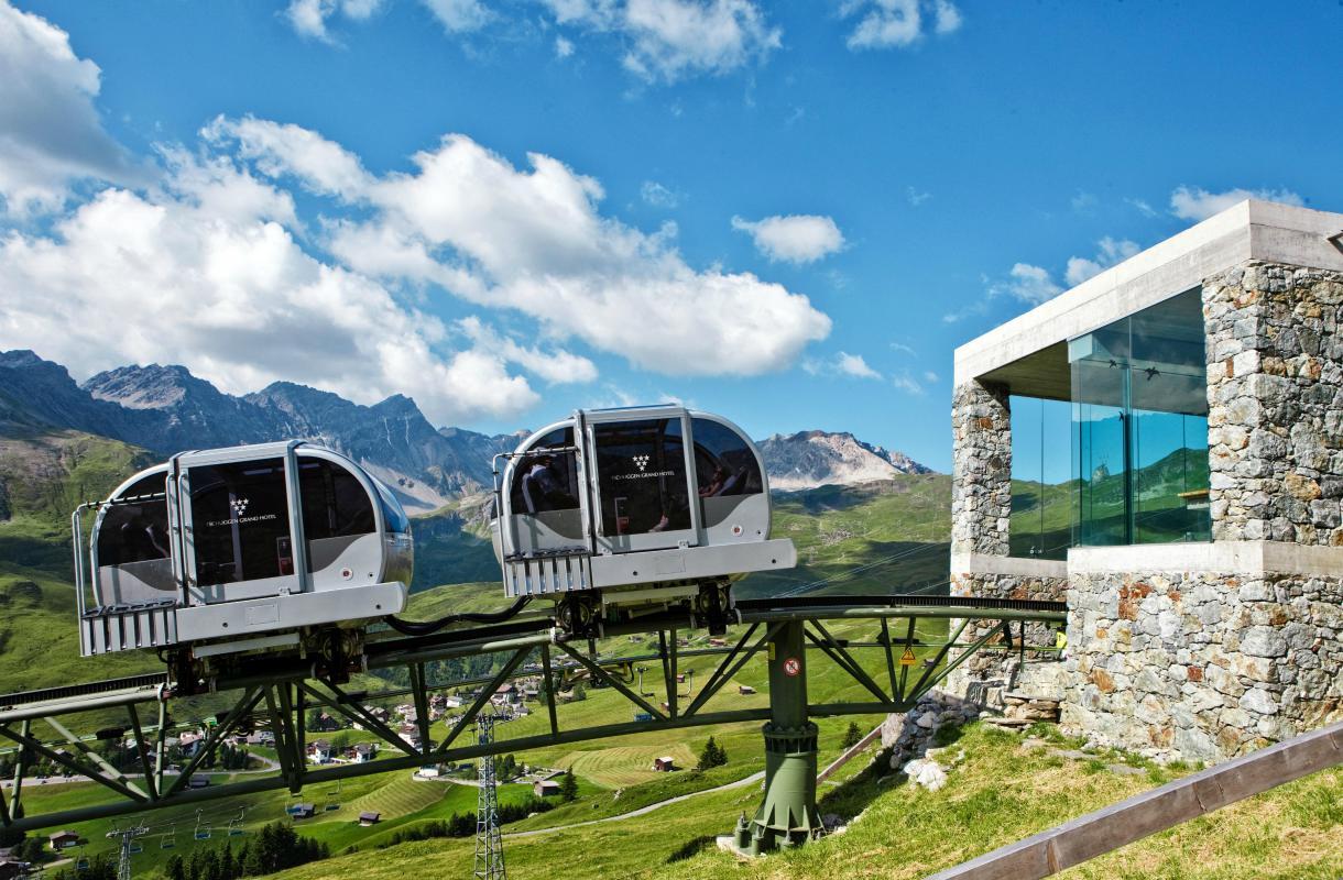 Hotellin kiskoköysirata Sveitsin Arosassa