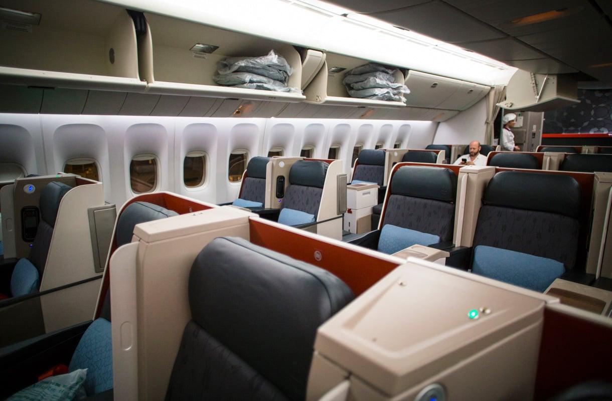 Turkish Airlinesin business-luokka