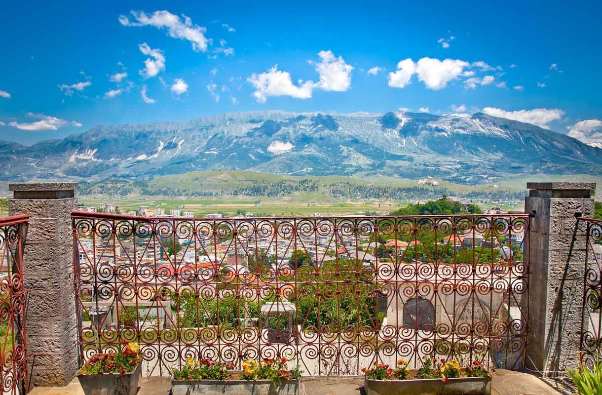 Gjirokastran vanhakaupunki Albaniassa
