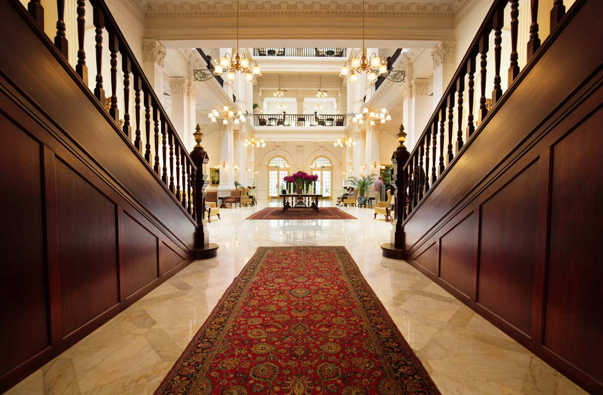 Singaporen kuuluisa Raffles-hotelli