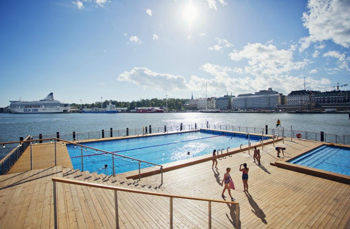 Allas Sea Pool on ulkouima-allas Helsingin keskustassa