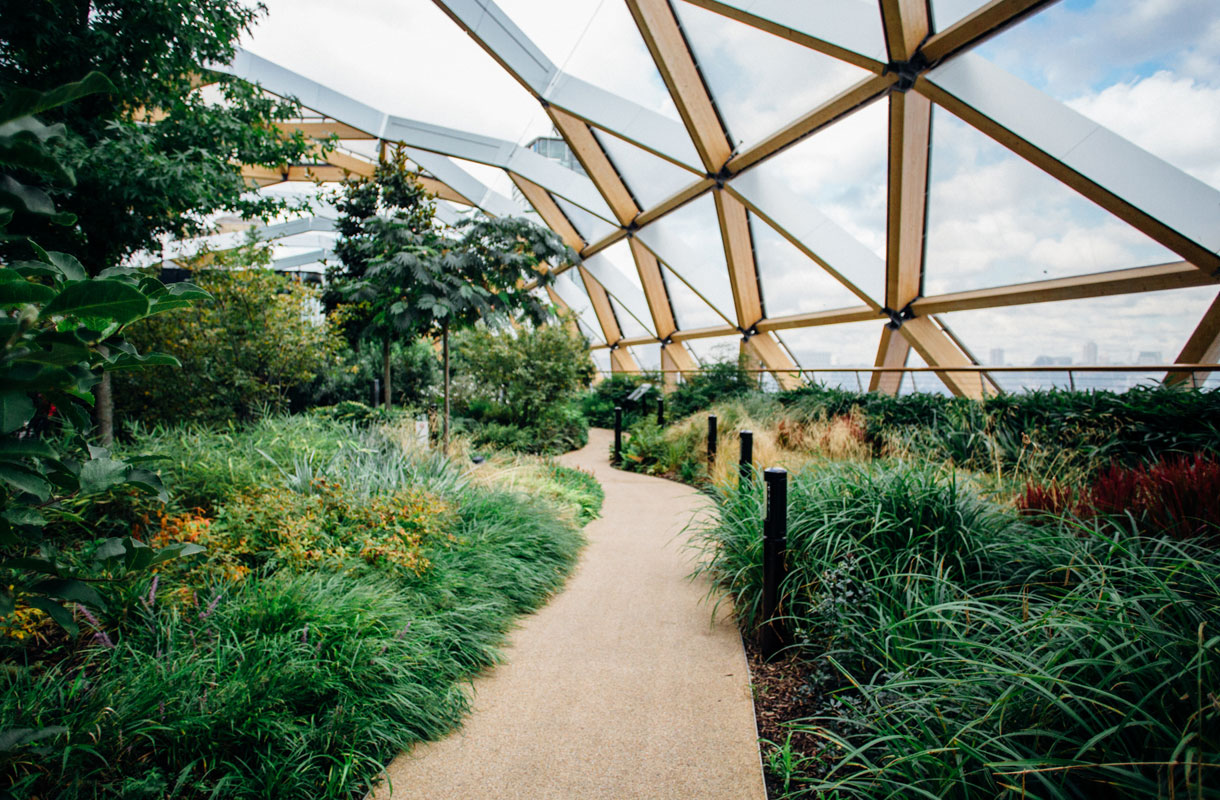 Crossrail Place Roof Garden, Lontoo
