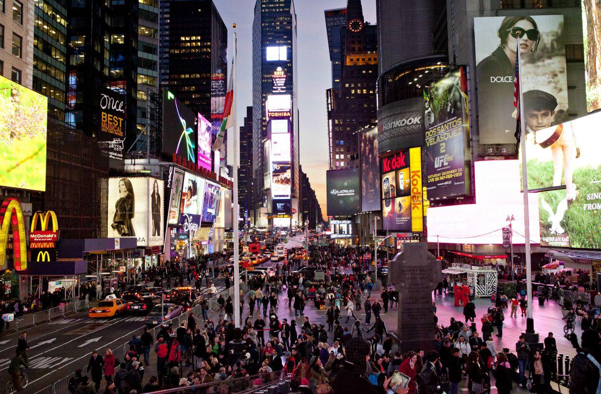 Tiesitkö tämän Times Squaresta?