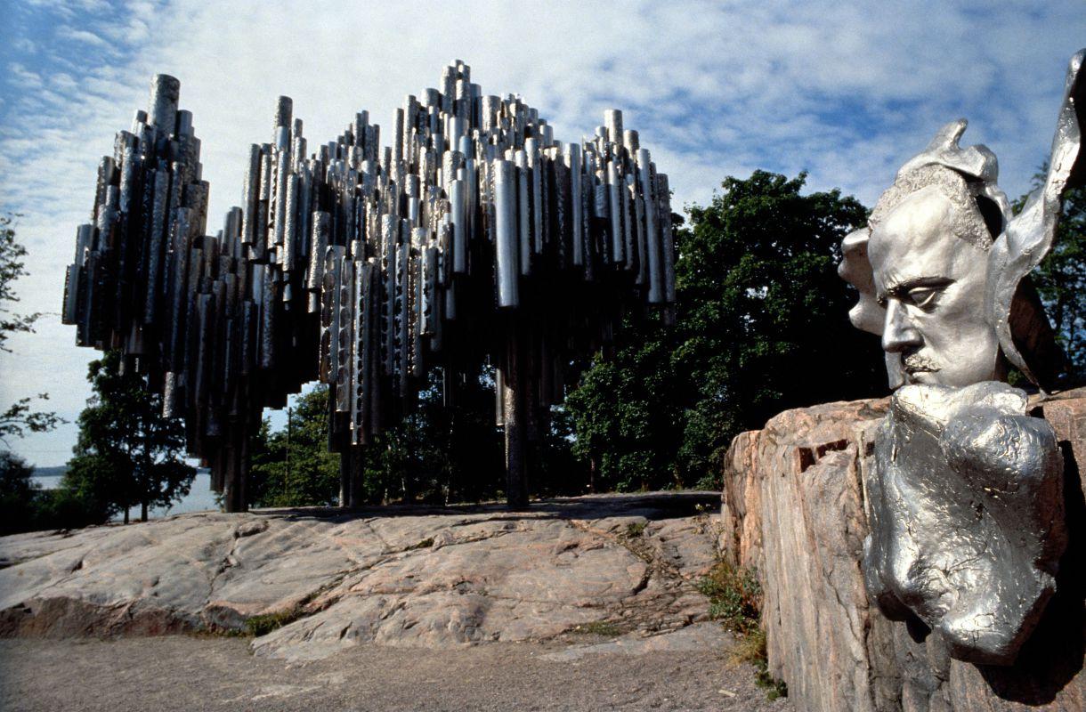 Sibelius-monumentti Helsingin Töölössä