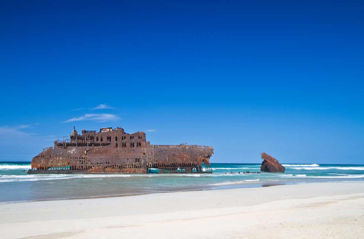 Boa Vistan vanha hylky Kap Verdellä