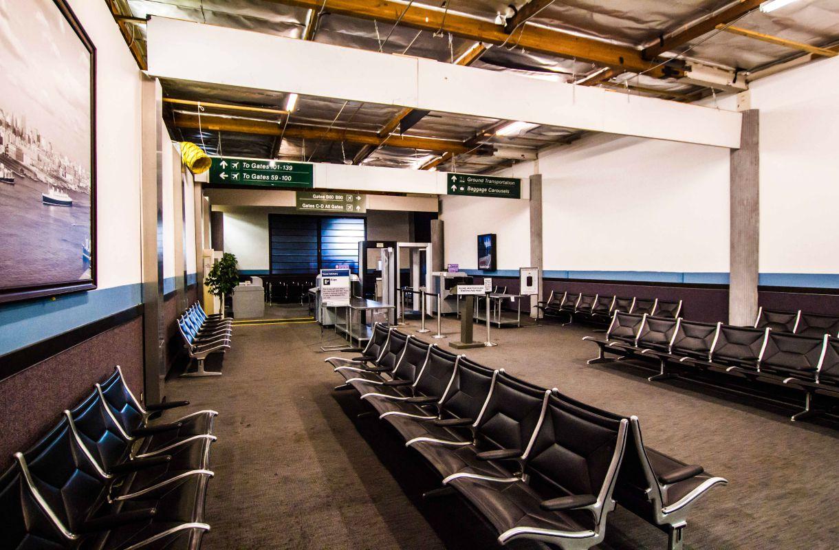 Lentokentän lavasteet elokuvia varten