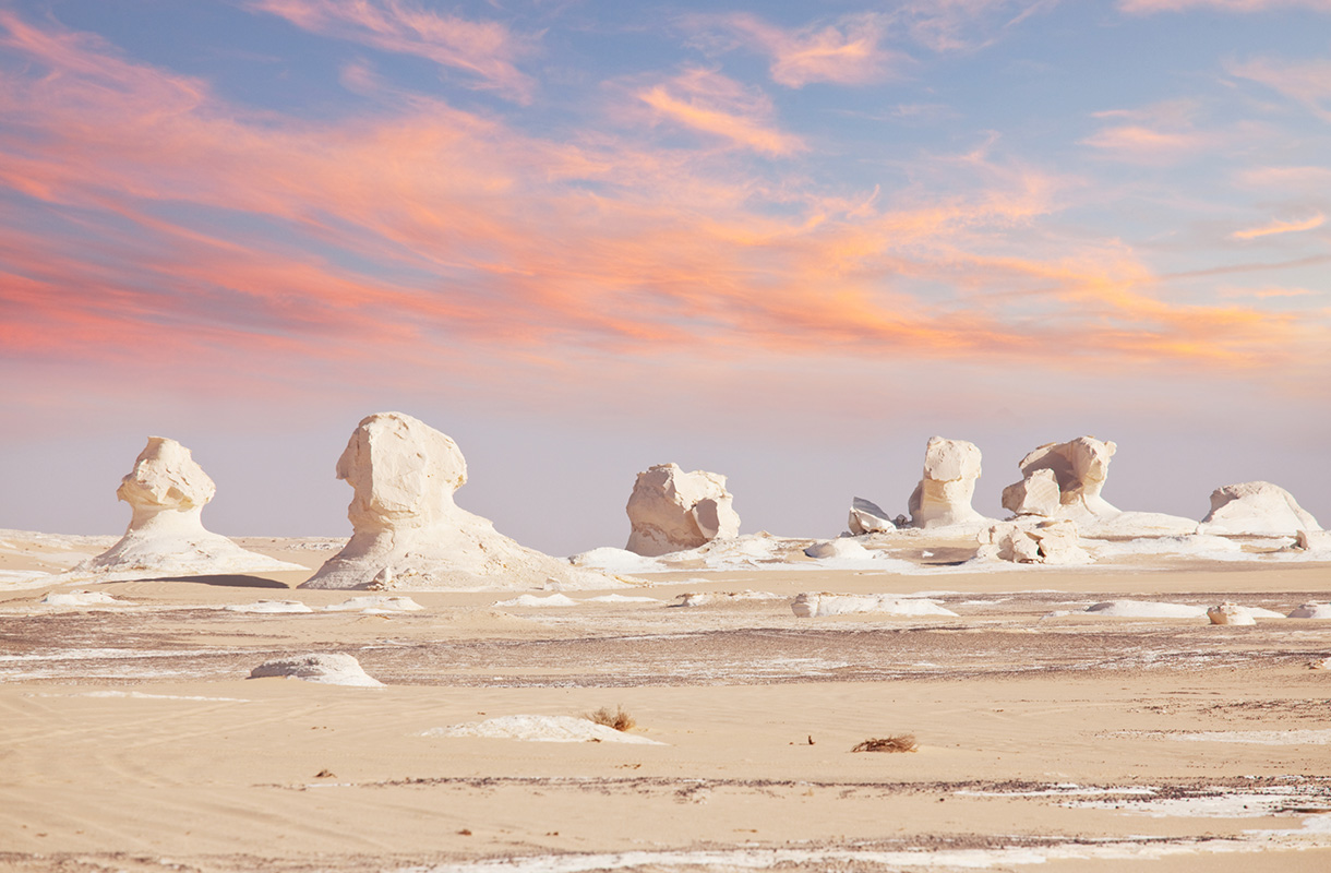 White Desert National Park, Egypti