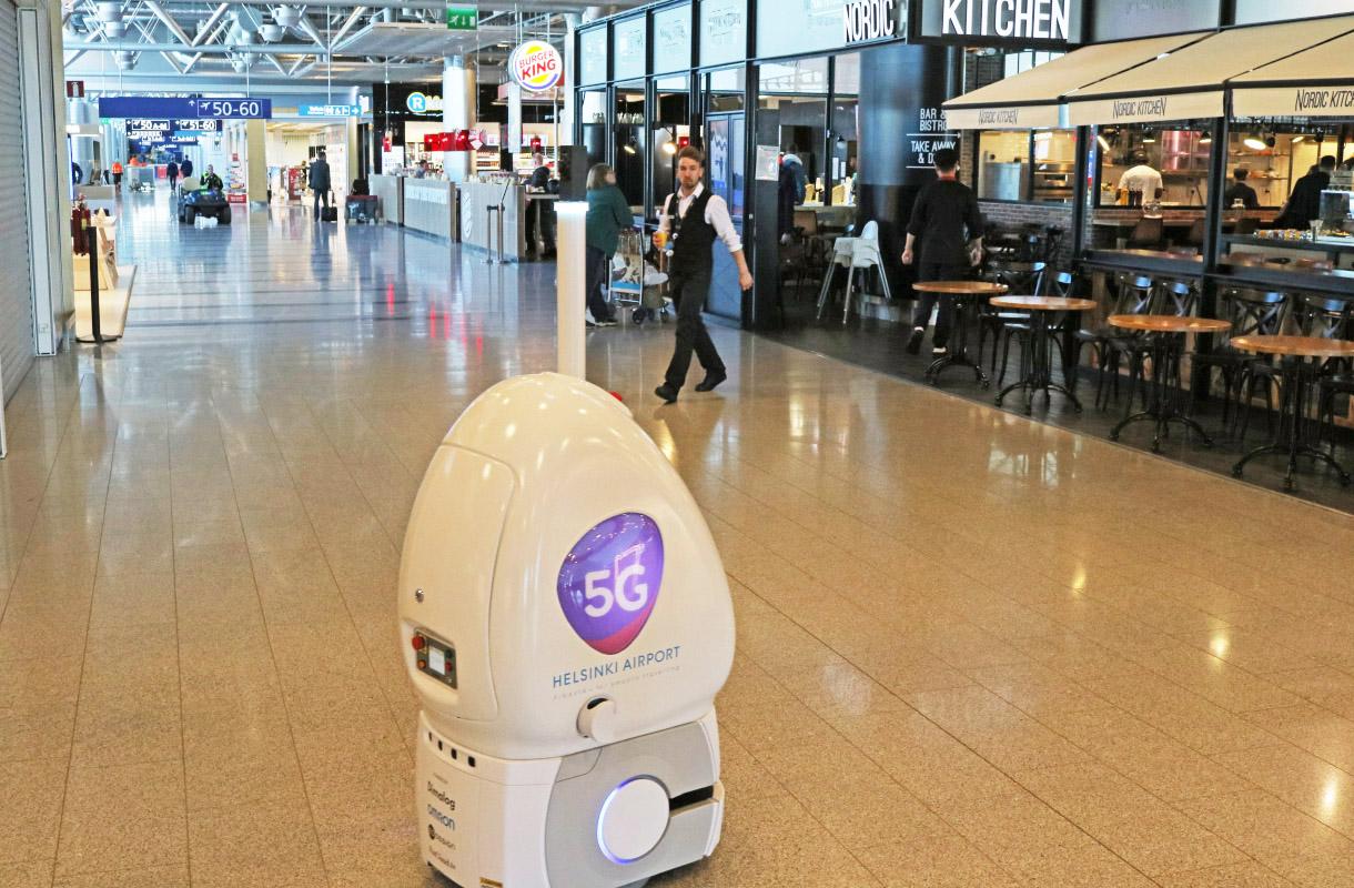 Helsinki-Vantaan 5G-robotti