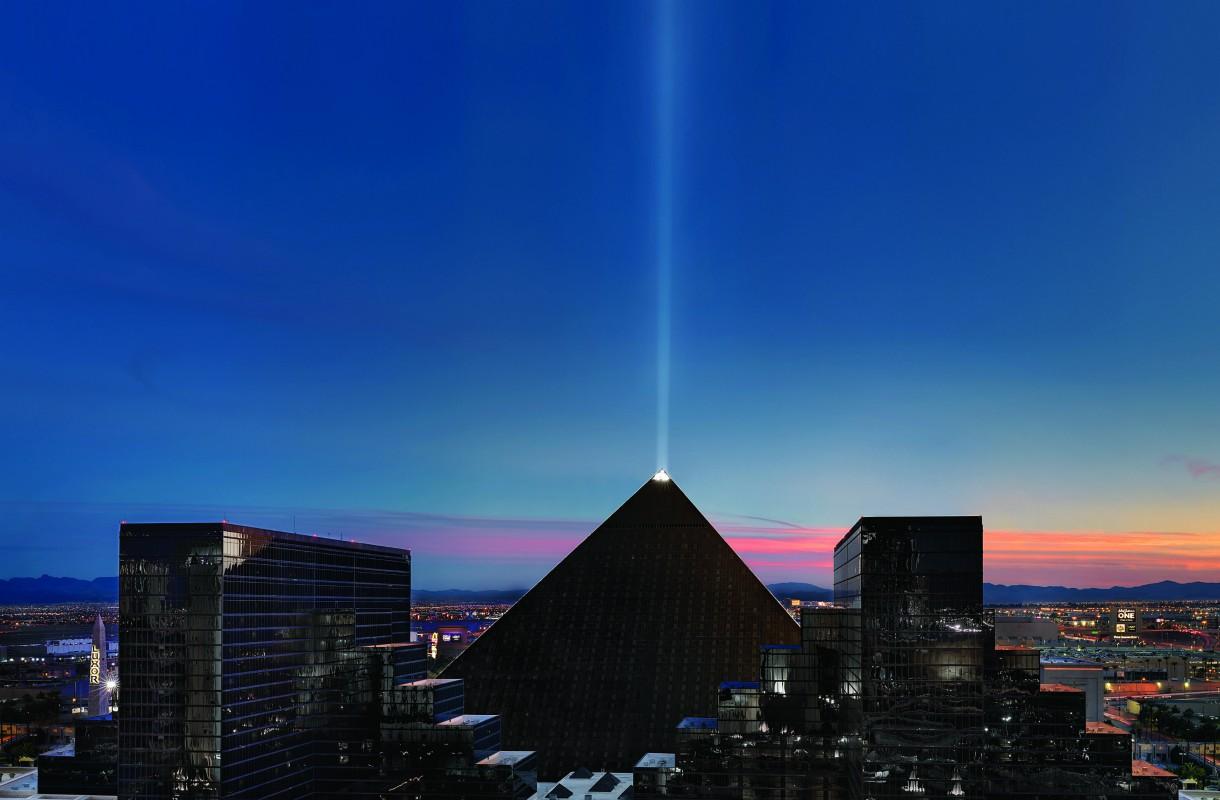 Las Vegasin Sky Beam on poikkeuksellisen kirkas valo