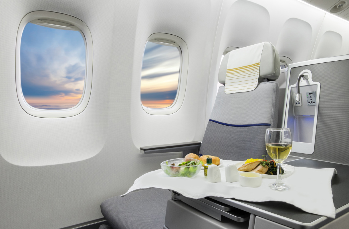 Paras viini lentokoneessa