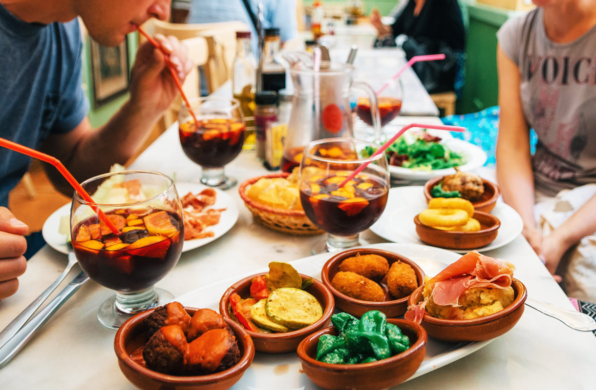 Ravintolaetiketti Espanjassa