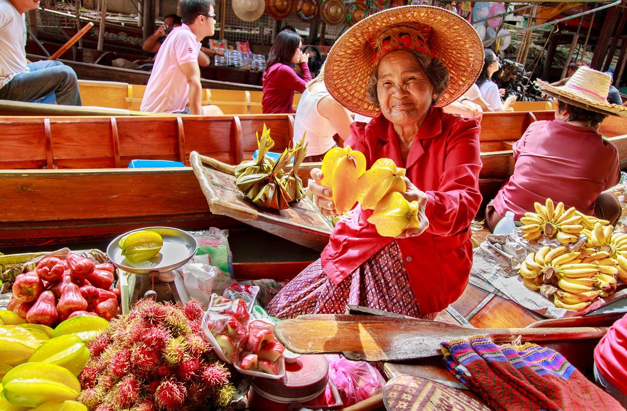 Missä Thaimaassa kannattaa tehdä ruokaostokset?