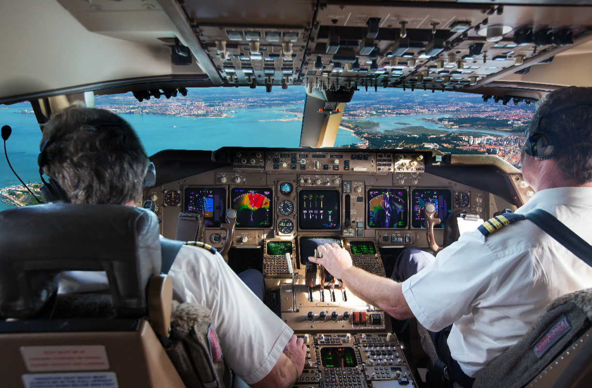 Lentokoneen ohjaamo
