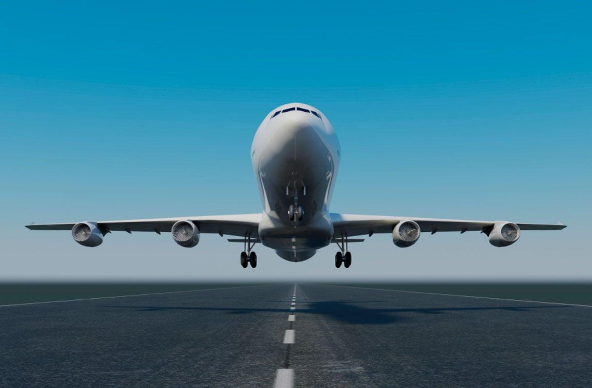 Lentokone nousussa
