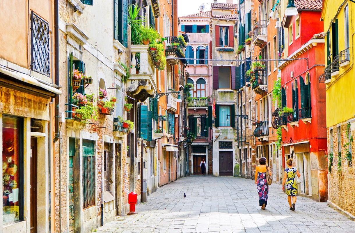 Majoituksen sijainnilla on merkitystä Venetsiassa