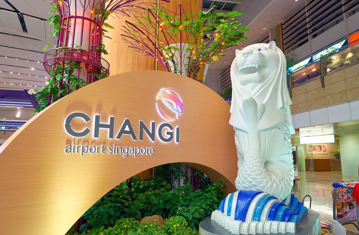 Vaihto Singaporen lentokentällä