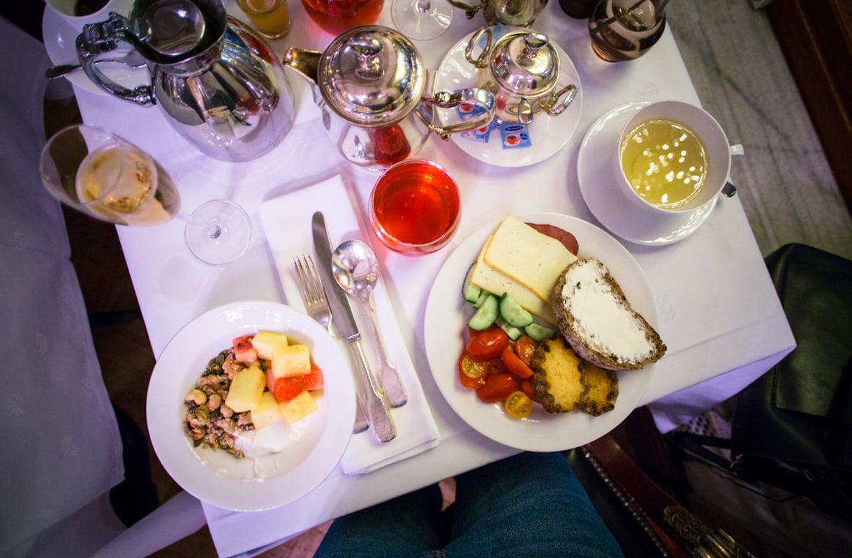 Hotel Kämpin aamiainen, Helsinki