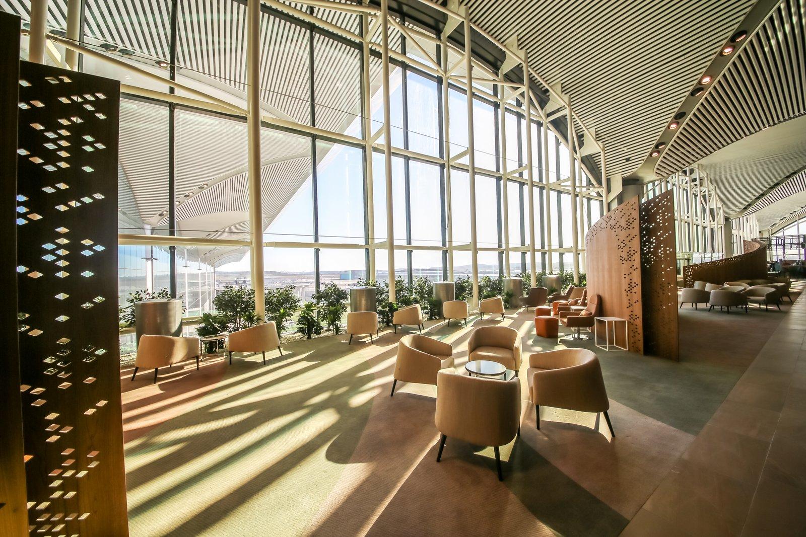 Istanbulin lentokentän lounget