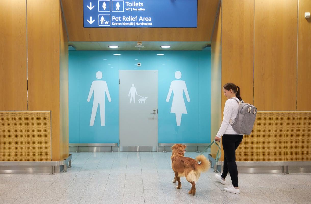 Koirien käymälät Helsinki-Vantaalla