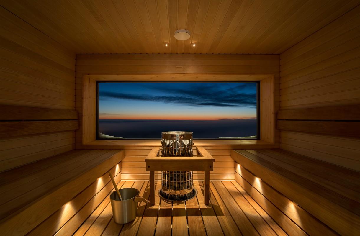 Sauna Kaunispään huipulla