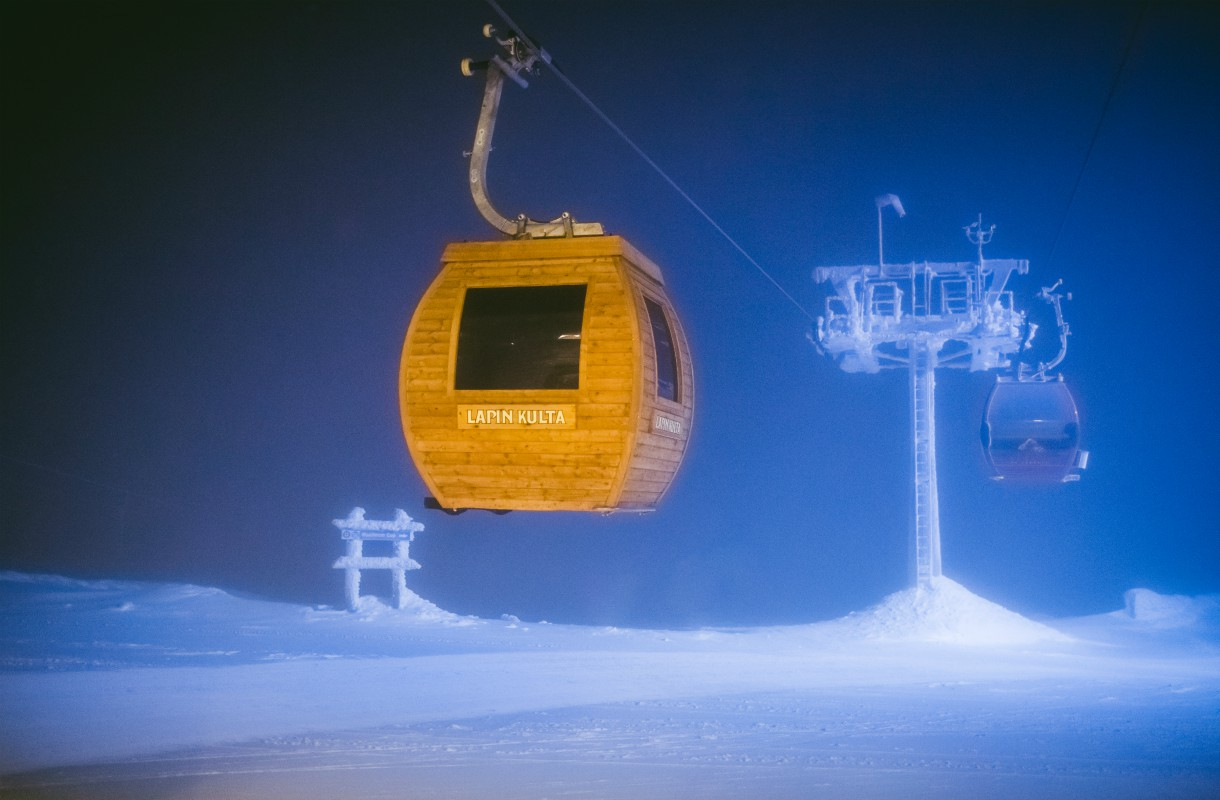 Sauna in the ski lift in Ylläs