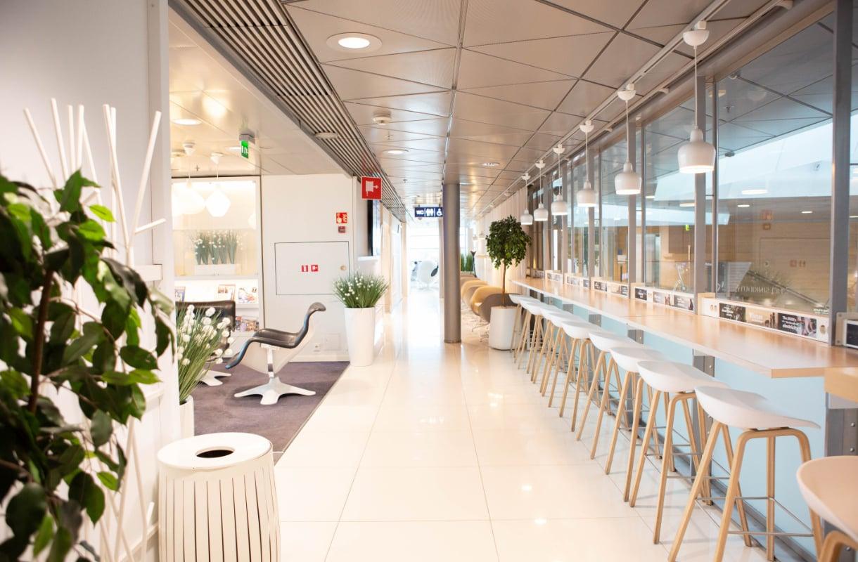 Finnairin Schengen-lounge