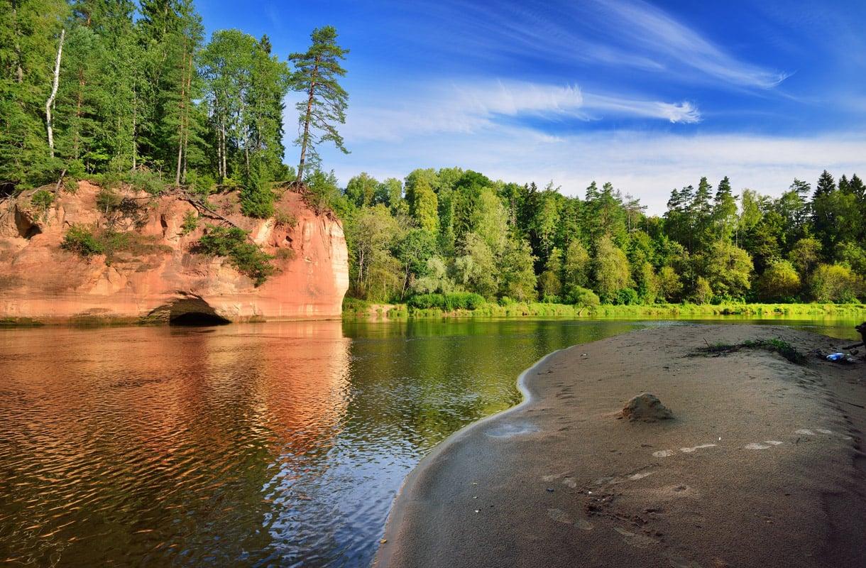 Gauja, Latvia
